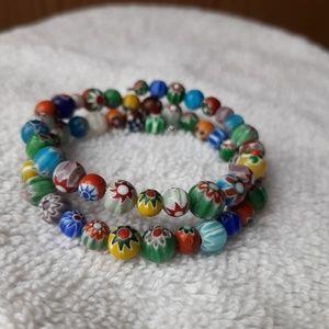 Jewelry - Memory wire millefiori bracelet
